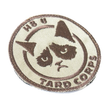 "La Patcheria ® ""H8 U Tard Corps"" Patch - Desert"