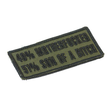 "La Patcheria ® ""49% - 51%"" Patch - Olive"