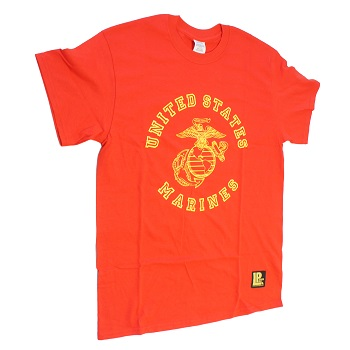 "La Patcheria ® T-Shirt ""U.S.M.C."", Red - Gr. L"