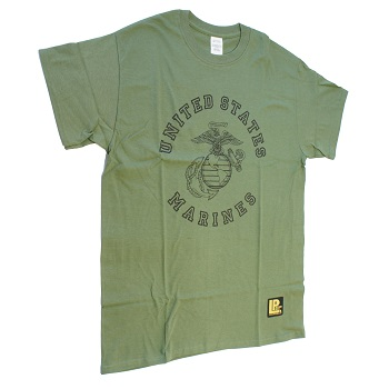 "La Patcheria ® T-Shirt ""U.S.M.C."", Olive - Gr. M"