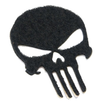 "La Patcheria ® Adhesive Loop Military VELCRO ""Skull"" - Black"