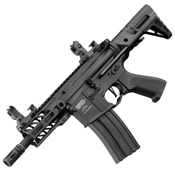 "Lancer Tactical M4 Enforcer Mod. III ""M-LOK"" PDW QSC ProLine AEG - Black"