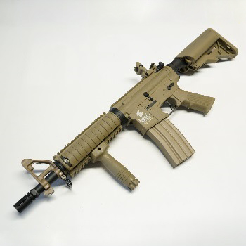 Lancer Tactical M4 R.I.S. CQB QSC AEG Set - Desert