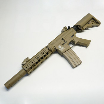 Lancer Tactical M4 R.A.S. CQB SD QSC AEG Set - Desert