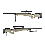 WELL MB08 AW338 Sniper Rifle Set - Desert
