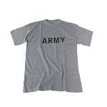 "MFH US T-Shirt ""ARMY"", grau - Gr. XL"