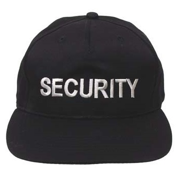 "MFH US Cap ""SECURITY"" mit Schild - schwarz"