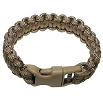 "MFH Armband ""Paracord"" (23mm breit), Coyote - Gr. S"