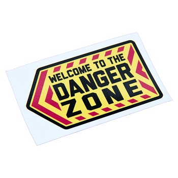 "MSM ® Vinyl-Aufkleber / Sticker ""Danger Zone"""
