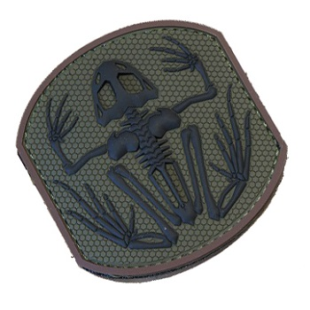 MSM ® Frog Skeleton PVC Patch - Forest