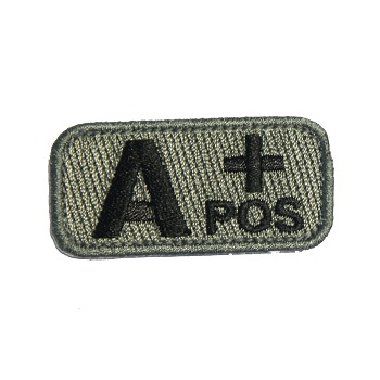MSM ® Bloodtype A+ Patch - ACU Dark