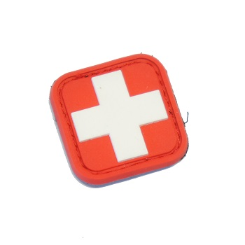 "MSM ® Swiss Flag Square 1"" PVC Patch - Full Color"