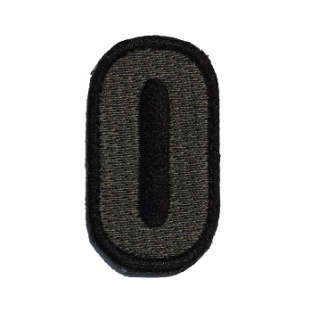 MSM ® Tac-Number 0 Patch - ACU Dark