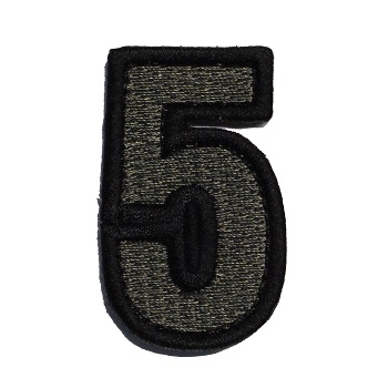 MSM ® Tac-Number 5 Patch - ACU Dark
