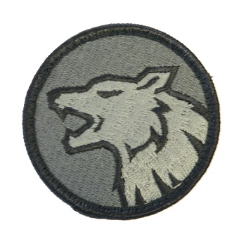 MSM ® Wolf Head Patch - ACU Dark