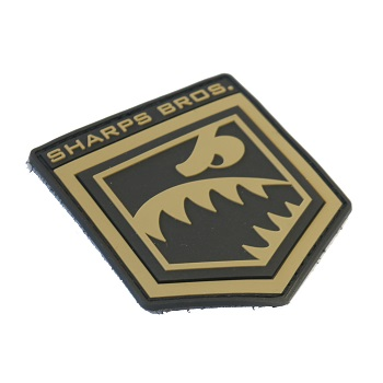 MSM ® Sharps Bros. PVC Patch - Black/Desert