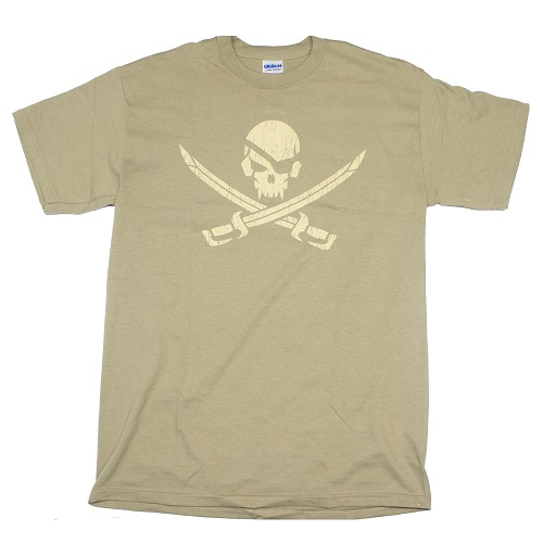 "MSM ® T-Shirt ""Pirate Skull"", Dusty Brown - Gr. XL"