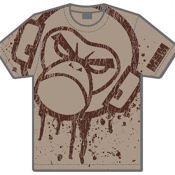 "MSM ® T-Shirt ""Splatter"", Dusty Brown - Gr. L"