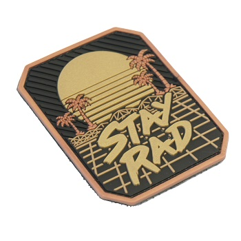 MSM ® Stay Rad PVC Patch - Black/Gold