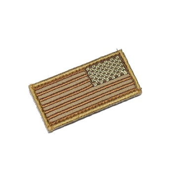 MSM ® US Flag Mini Rev Patch - Desert