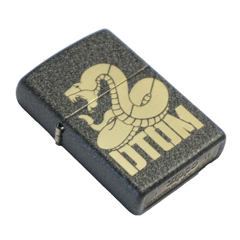 "MSM ® x Zippo ® Lighter ""DTOM"" - Black Crackle"