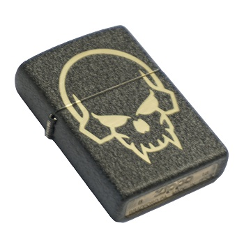 "MSM ® x Zippo ® Lighter ""Pirate Skull"" - Black Crackle"