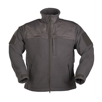 "Mil-Tec Elite Fleece Jacke ""Hextac"", Urban Grey - Gr. L"