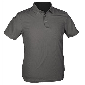 Mil-Tec Tactical Quick Dry Polo Shirt, Urban Grey - Gr. L