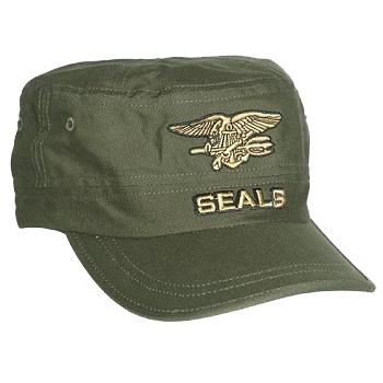 Mil-Tec SEALs Cap, Oliv - Gr. M/L