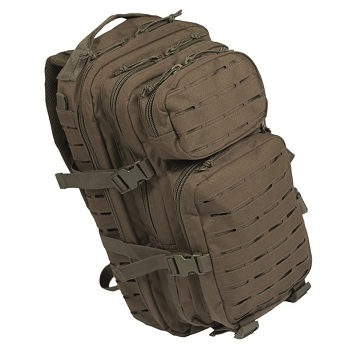 "Mil-Tec US Assault Pack ""Laser Cut"" Rucksack (20L) - Oliv"