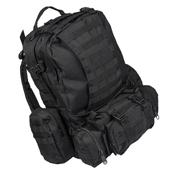 Mil-Tec Defense Pack Assembly Rucksack - Schwarz