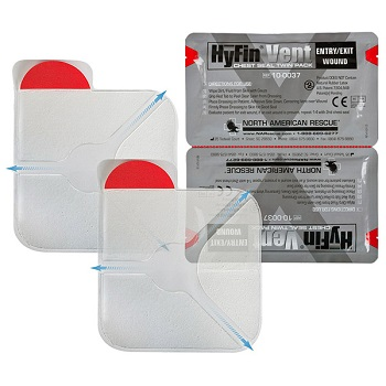 North American Rescue ® HyFin Vent Chest Seal (2er Pack)