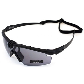 Nuprol Anti-Fog Schutzbrille, Black - smoke