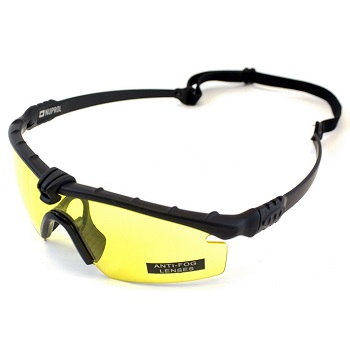 Nuprol Anti-Fog Schutzbrille, Black - yellow
