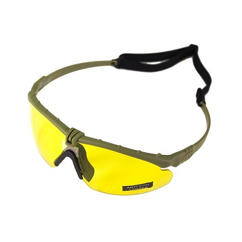 Nuprol Anti-Fog Schutzbrille, Olive - yellow
