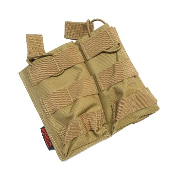 Nuprol PMC Double M4 Open Magazine Pouch - TAN