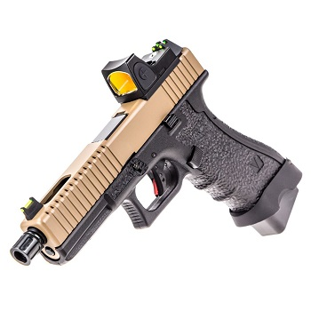 Vorsk P17 Serrated & RMR Sight GBB - Brown/Black