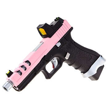 Vorsk P17 Vented & RMR Sight GBB - Pink/Black