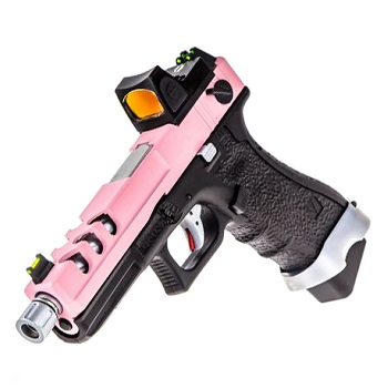 Vorsk P18C Vented & RMR Sight GBB - Pink/Black