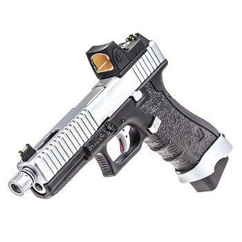 Vorsk P17 Serrated & RMR Sight GBB - Silver/Black