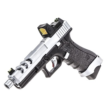 Vorsk P17 Vented & RMR Sight GBB - Silver/Black