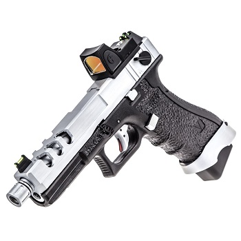 Vorsk P18C Vented & RMR Sight GBB - Silver/Black