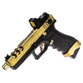 Vorsk P18C Vented & RMR Sight GBB - Gold/Black