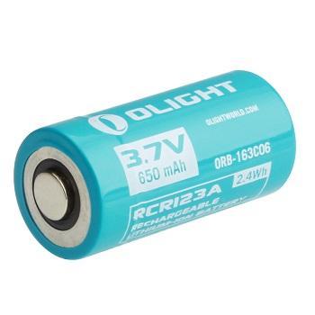 OLIGHT RCR123A 3.7v Li-Ion 650mAh Akku