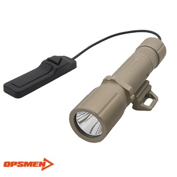 "OPSMEN ® FAST 501 R Tactical LED FlashLight (1'000 Lumen) ""Rail Mounted"" - TAN"