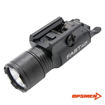 OPSMEN ® FAST 401 Rail Mounted Tactical LED FlashLight - Black