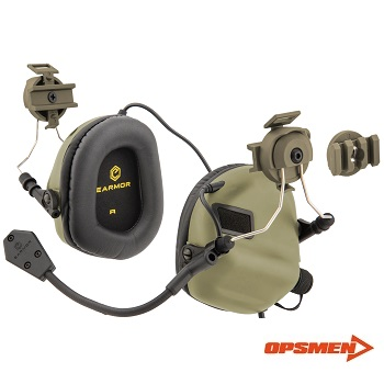 "OPSMEN ® EARMOR M32 MOD1 Funk-HeadSet mit Gehörschutz ""Helm Version"" - TAN"