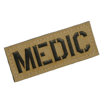 "Patchzone ® ""Medic"" Patch - Desert"