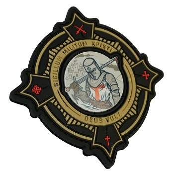 "Patchzone ® ""Deus Vult"" 2in1 PVC Patch"