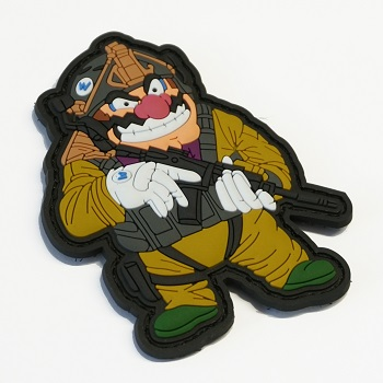 "Patchzone ® ""Mario Warfare: Wario\"" PVC Patch"